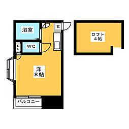 ウィステリア箱崎[2階]の間取り