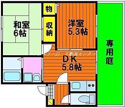 岡山県岡山市東区瀬戸町下の賃貸アパートの間取り