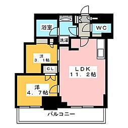 Brillia ist 元浅草 13階2LDKの間取り