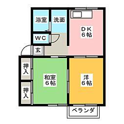 ソファレ・オカ[2階]の間取り