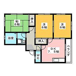 ドエル広野[2階]の間取り