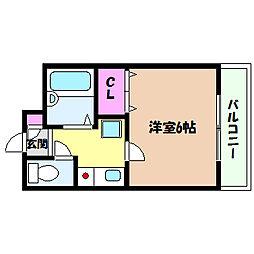 兵庫県神戸市灘区篠原中町1丁目の賃貸マンションの間取り