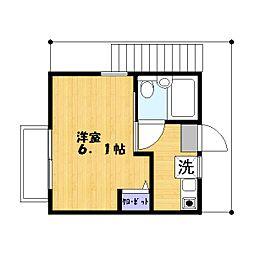 松井コーポ[201号室]の間取り