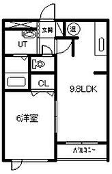 新築 Agreable[203号室]の間取り