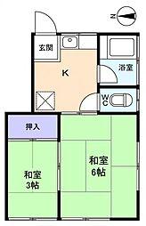 河野荘[2階]の間取り