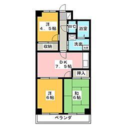 総業水戸第二ハイム[3階]の間取り