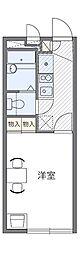JR青梅線 西立川駅 徒歩12分の賃貸マンション 1階1Kの間取り