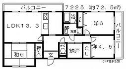 藤の木マンション[102号室号室]の間取り