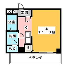 アップル第7マンション[5階]の間取り