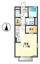 愛知県名古屋市昭和区荒田町1丁目の賃貸アパートの間取り