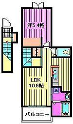 埼玉県川口市芝西2丁目の賃貸アパートの間取り