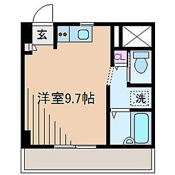 神奈川県横浜市港北区樽町1丁目の賃貸マンションの間取り