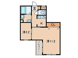 和歌山県和歌山市中之島の賃貸マンションの間取り