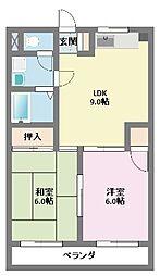 第11むさしマンション[2階]の間取り