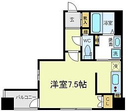 FLAT34上本町[11階]の間取り