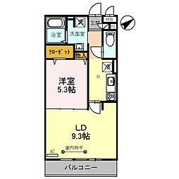 (仮)D-room粕壁東2丁目[210号室]の間取り
