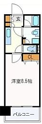仙台市地下鉄東西線 国際センター駅 徒歩5分の賃貸マンション 5階1Kの間取り