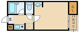 ステラハウス16[1階]の間取り