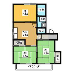 サントピア新栄[2階]の間取り