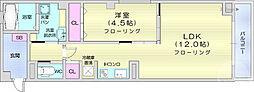 仙台市営南北線 広瀬通駅 徒歩5分の賃貸マンション 3階1LDKの間取り