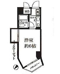 パールシティ小石川[206号室]の間取り