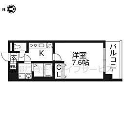 レジデンス京都ゲートシティ205[2階]の間取り