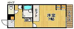 レオパレスパルフェII[2階]の間取り
