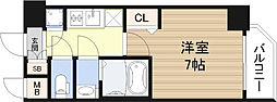 レジュールアッシュ難波MINAMI-II[8階]の間取り