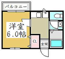 埼玉県川口市西青木3丁目の賃貸アパートの間取り