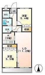 シュノンソー[5階]の間取り