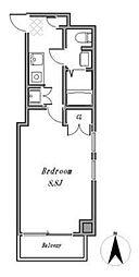 JR中央本線 吉祥寺駅 バス18分 三ツ塚下車 徒歩1分の賃貸マンション 5階1Kの間取り