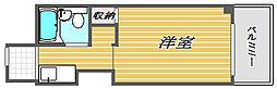 神奈川県川崎市中原区新丸子町の賃貸マンションの間取り