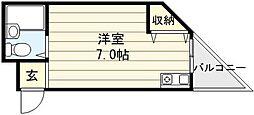 大阪府東大阪市足代新町の賃貸マンションの間取り