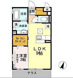 広島電鉄宮島線 東高須駅 徒歩1分の賃貸アパート 3階1LDKの間取り