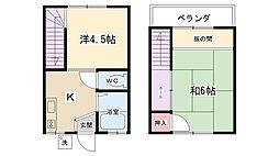 [テラスハウス] 神奈川県相模原市南区大野台4丁目 の賃貸【神奈川県 / 相模原市南区】の間取り