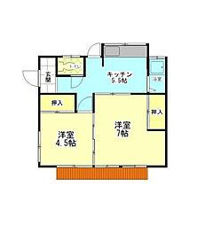 [一戸建] 神奈川県横浜市緑区東本郷4丁目 の賃貸【/】の間取り