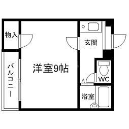 せふりハイツ[4階]の間取り