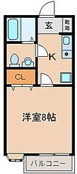 ハイツプリーマ[1階]の間取り