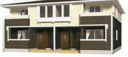 岡山県倉敷市北畝5丁目の賃貸アパートの外観