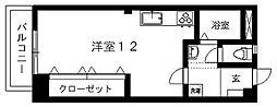第3大西ビル[604号室]の間取り