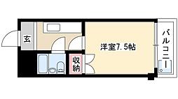 ジュネスK-1[2階]の間取り