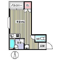 Lily−be 1st[2階]の間取り
