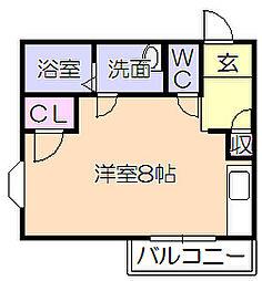 渡辺第2ビル[303号室]の間取り