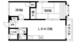 ル・シェール武庫川II[203号室]の間取り