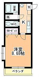 かぁりす岩崎2[2階]の間取り