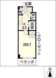 KII岡三ビル[5階]の間取り