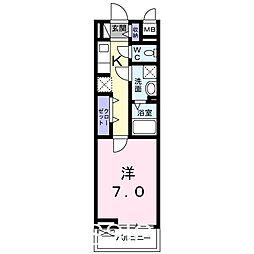 大阪府堺市堺区寺地町東4丁の賃貸アパートの間取り