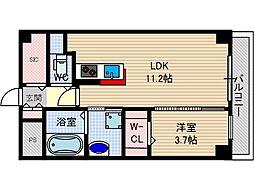 アクトタレイア茨木駅前[4階]の間取り