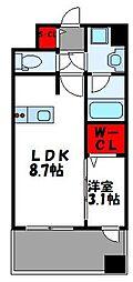 グランフォーレ千早マークスクエア ウエストウイング 15階1LDKの間取り
