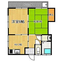 東京都杉並区高井戸西1丁目の賃貸アパートの間取り
